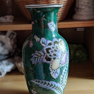 Other - 🌿🌺 Beautiful Vintage Cloisonné - ish Vase 🌺🌿